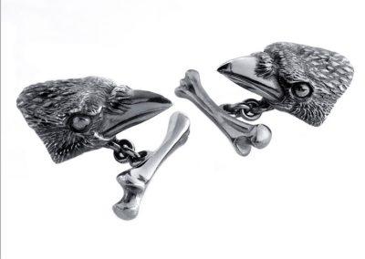 Crow cufflinks