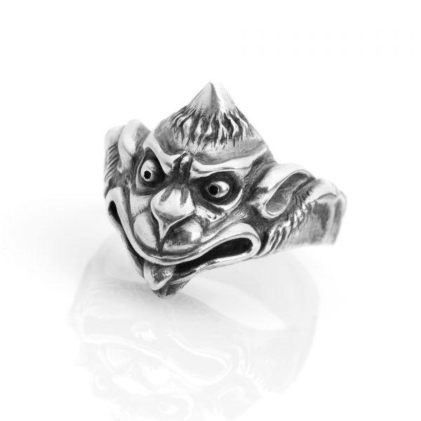 Silver Gargoyle ring
