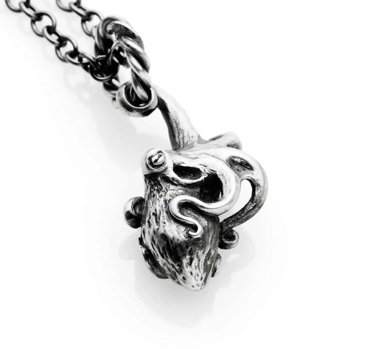 kraken products octopus in sterling made diamonds and custom pendant